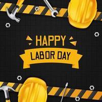 Happy labor day design vector