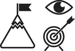 Vision and Mission Icons vector