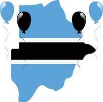 bandera del mapa de botswana vector