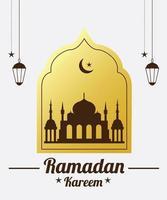 Decorative greeting for Ramadan Kareem vector