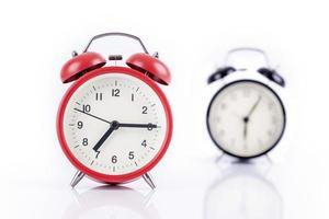 Two alarm clocks photo