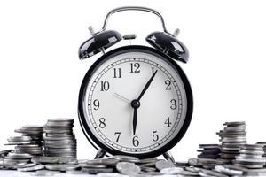 concepto de tiempo y dinero foto
