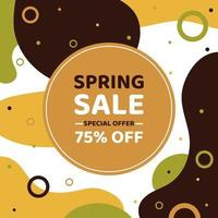 Abstract banner spring discount. Sale is seasonal. Vector illustration