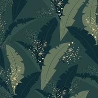 Seamless pattern with palm leaves. Exotic background. Flat vector