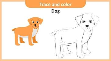 Trace and Color Dog vector