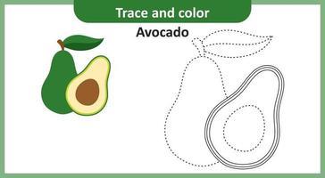 Trace and Color Avocado vector