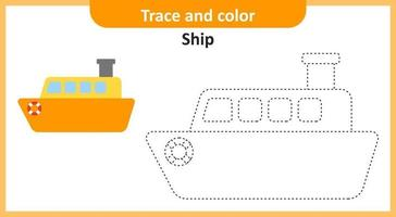 Trace and Color Ship vector