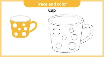 Trace and Color Cup vector