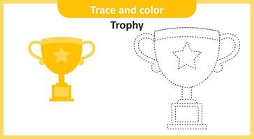 Trace and Color Trophy vector
