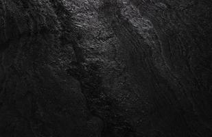 Horizontal black stone texture for pattern and background photo