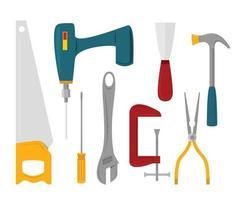 Group of Handyman Tools. vector