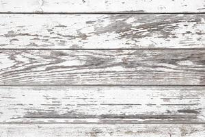 Aged white wooden background texture. Wood paneling with cracked and peeled paint photo