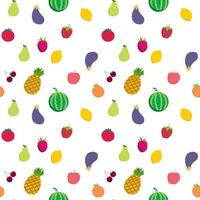 Fruit and vegetable seamless pattern vector