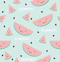 Funny watermelon sign seamless pattern vector