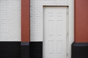puerta de madera blanca foto