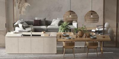 Scandinavian style living room photo