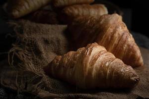 Freshly baked croissants photo