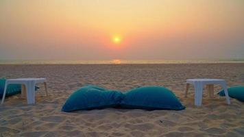 Beach Bean Bag With Ocean Background video