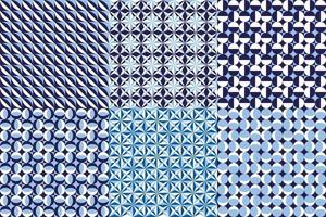 Abstract geometric graphic pattern in blue color vector background for design