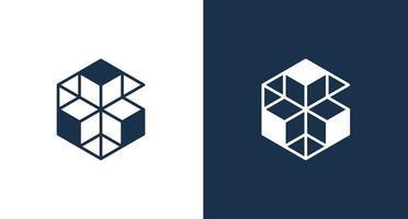 Minimal Hexagonal letter G logo with geometric thin line shape vector