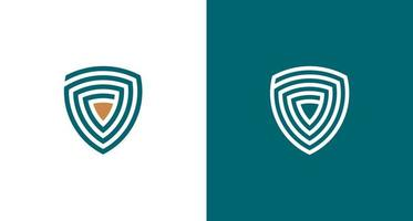 Shield logo set vector
