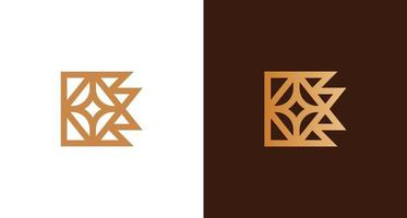 Abstract luxury golden letter E logo with star element set vector