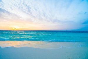 Sunset at maldives island