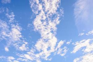 Cloud on blue sky background photo