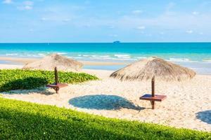 Umbrella on the beach photo