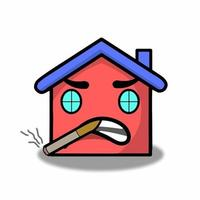 Tener ilustración de diseño de plantilla de vector de personaje de casa de cigarrillos