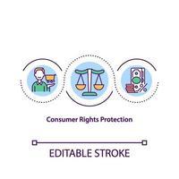 Consumer right protection concept icon vector