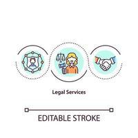 Legal services concept icon vector