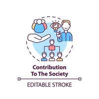 contribución al icono del concepto de sociedad vector