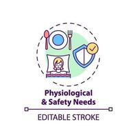 Physiological and safety needs concept icon vector