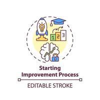 Starting improvement process concept icon vector
