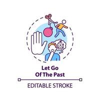 Let go of the past concept icon vector