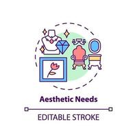 Aesthetic needs concept icon vector