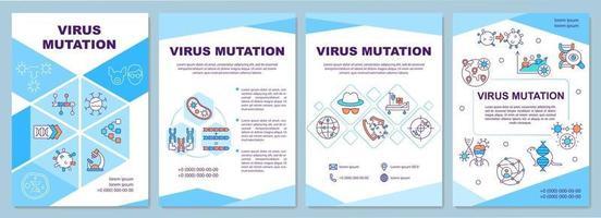Virus mutation brochure template vector
