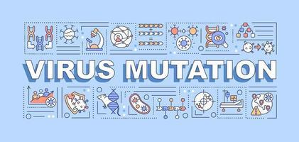 Virus mutation word concepts banner vector