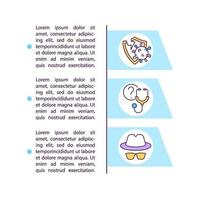 Weak immune response concept line icons with text vector