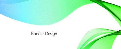 Abstract green modern decorative wave design banner background vector