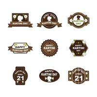 Kartini Day Sticker with Color Vintage vector