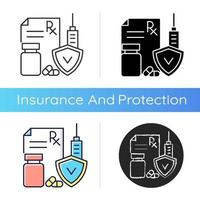 Medical insurance icon vector