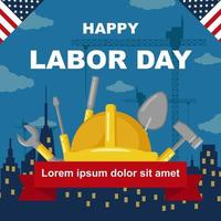 Labor Day with Construction Background