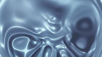 Flowing silver-metallic liquid abstract background