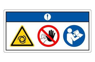Notice Equipment Starts Automatically Symbol Sign On White Background vector