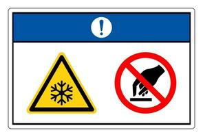 Notice Extremely Cold Surface Do Not Touch Symbol Sign On White Background vector