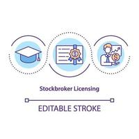 Stockbroker licensing concept icon vector