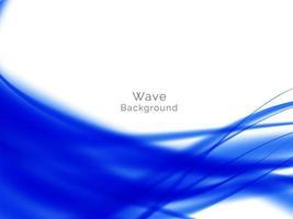 Smooth stylish modern wave background vector
