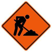 Men Work Road,Under Construction Traffic Road Symbol Sign Isolate on White Background,Vector Illustration vector